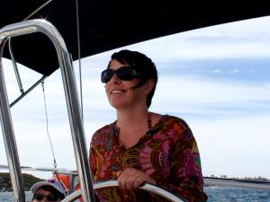 Judy at the Helm!