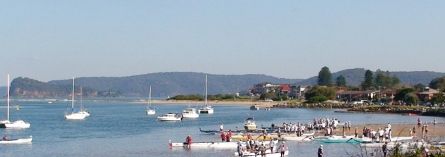 Outriggers on Ettalong Beach.