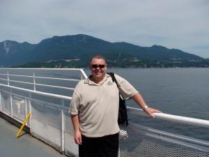 Al on the Nanaimo Ferry.