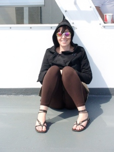 Kitty 0n the Nanaimo Ferry