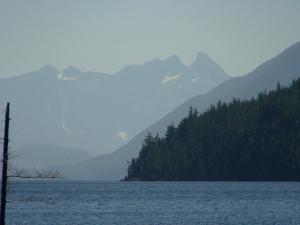 Nimpkish Lake, cold swimming in this glacier fed, stunning lake!