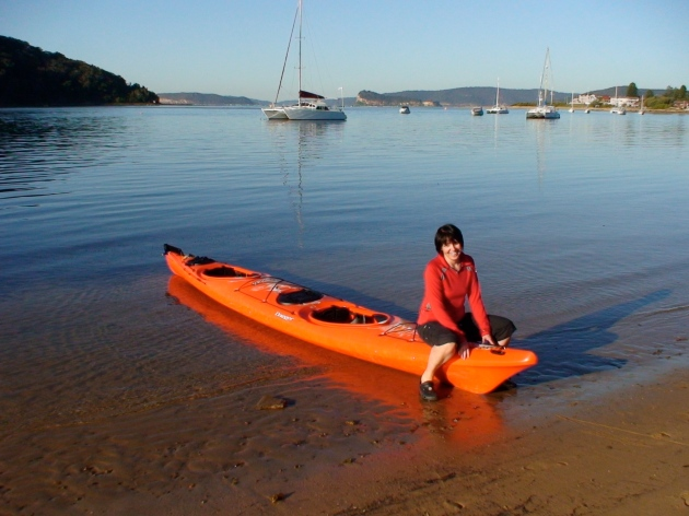 Judy and Kayak at Ettalong